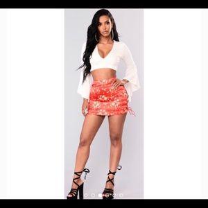 Fashion Nova Midnight Chinatown Satin Skirt